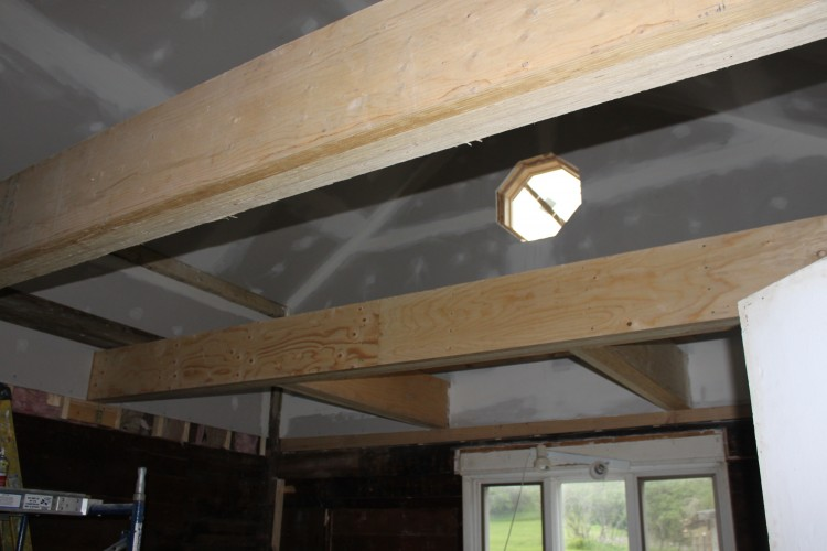 New Kitchen beams