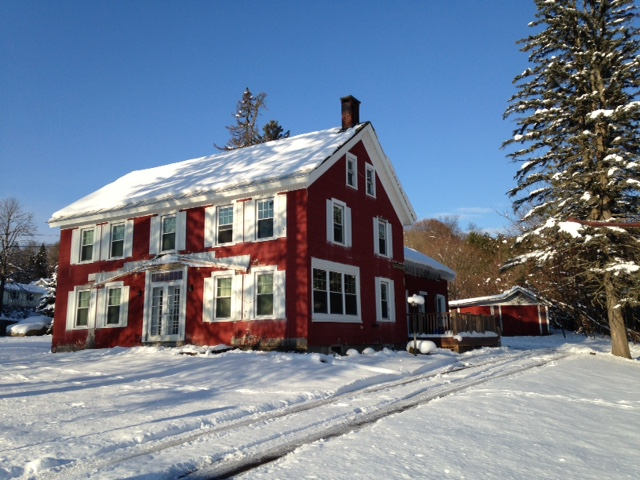 red house november snow 2014